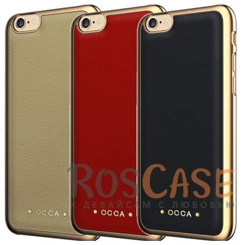 Фото Накладка OCCA Absolute Collection со вставкой из натуральной коровьей кожи для iPhone 6/6s (4.7