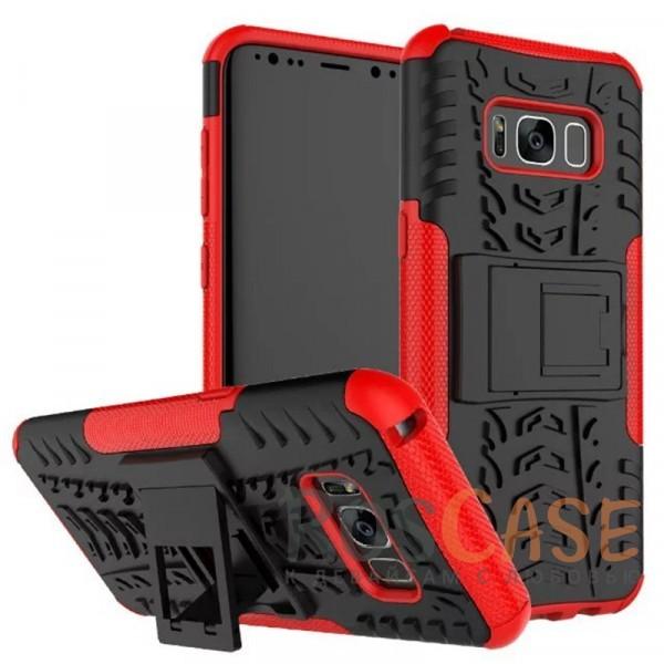 Противоударный двухслойный чехол Shield для Samsung G955 Galaxy S8 Plus с подставкой (Красный)Описание:совместим с Samsung G955 Galaxy S8 Plus;удобная функция подставки;материал - поликарбонат, термополиуретан;тип - накладка;ударопрочная конструкция;предусмотрены все необходимые вырезы;рельефная фактура.<br><br>Тип: Чехол<br>Бренд: Epik<br>Материал: TPU