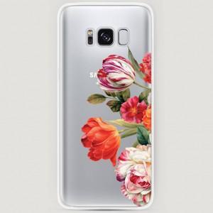 RosCase | Силиконовый чехол Весенний букет на Samsung G955 Galaxy S8 Plus