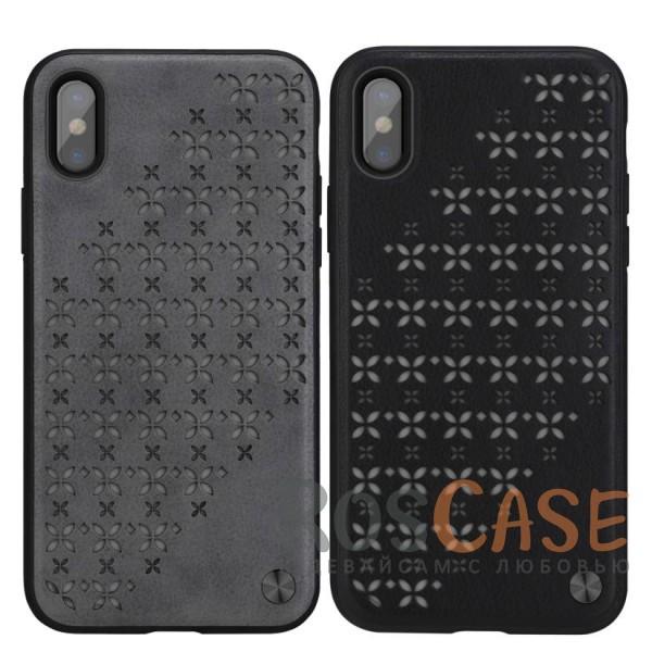 Необычный пластиковый чехол с кожаным покрытием и перфорированными светящимся звездами для Apple iPhone X (5.8)Описание:бренд&amp;nbsp;Nillkin;совместимость: Apple iPhone X (5.8);материалы: поликарбонат, термополиуретан, искусственная кожа;тип: накладка;закрывает заднюю панель и боковые грани;защищает от ударов и царапин;рельефная фактура&amp;nbsp;с перфорированными светящимся звездами;не скользит в руках;ультратонкий дизайн;защита камеры;дублирующие кнопки;все необходимые вырезы.<br><br>Тип: Чехол<br>Бренд: Nillkin<br>Материал: Пластик