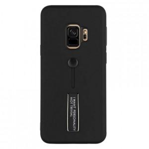 Противоударный двухслойный чехол Personality для Samsung Galaxy S9 Plus с подставкой и держателем