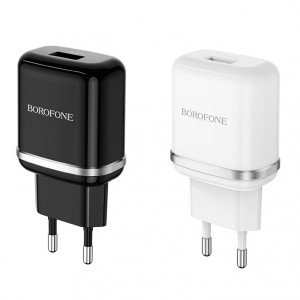 СЗУ быстрая зарядка Borofone BA36A (1USB / 3A) для Xiaomi Mi Note 10 (Pro)
