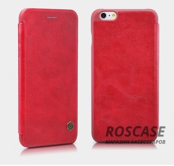Кожаный чехол (книжка) Nillkin Qin Series для Apple iPhone 6/6s (4.7) (Красный)Описание:производитель:&amp;nbsp;Nillkin;совместим с Apple iPhone 6/6s (4.7);материал: натуральная кожа;тип: чехол-книжка.&amp;nbsp;Особенности:слот для визиток;ультратонкий;фактурная поверхность;внутренняя отделка микрофиброй.<br><br>Тип: Чехол<br>Бренд: Nillkin<br>Материал: Натуральная кожа