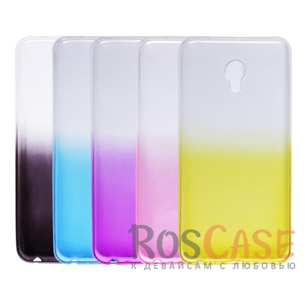 Фото Прозрачный TPU чехол с цветным градиентом для Meizu MX6