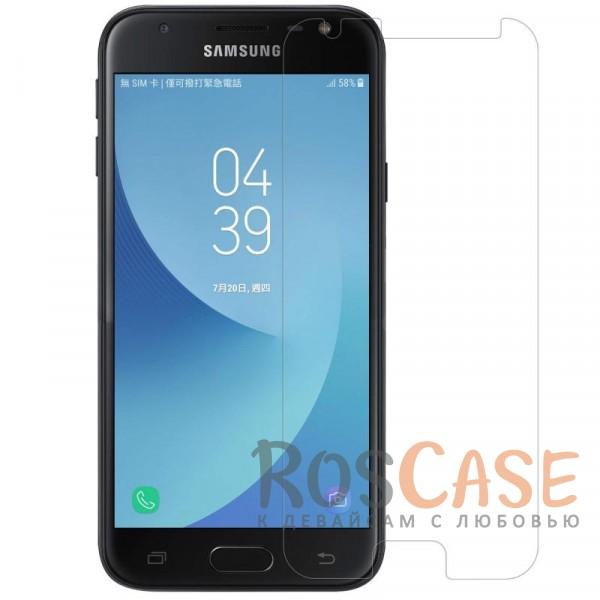 Nillkin Matte | Матовая защитная пленка для Samsung J330 Galaxy J3 (2017) (Матовая)Описание:производство компании&amp;nbsp;Nillkin;предназначена для Samsung J330 Galaxy J3 (2017);материал: полимер;тип: матовая пленка;ультратонкая;защищает от царапин и потертостей;не влияет на отзыв сенсорных кнопок;размер пленки: 136,7*62,3 мм.<br><br>Тип: Защитная пленка<br>Бренд: Nillkin
