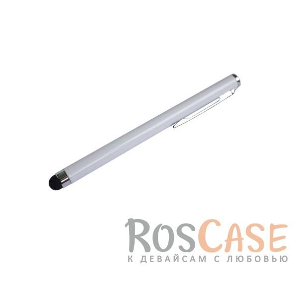Емкостной стилус в виде ручки (Белый)Описание:производитель  - &amp;nbsp;Epik;совместимость  -  универсальная;материал наконечника  -  силикон;тип  -  стилус для сенсорного дисплея.&amp;nbsp;Особенности:позволяет делать детализированные рисунки;возможность управлять девайсом, не касаясь экрана;плавно скользит по экрану;точность нажатия;длина стилуса - 105 мм.<br><br>Тип: Стилус<br>Бренд: Epik