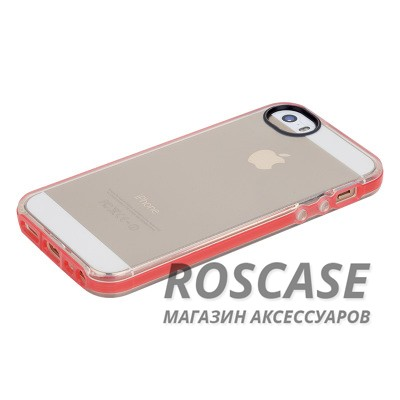 Фотография Красный / Transparent Red TPU чехол ROCK Joyful Series для Apple iPhone 5/5S/SE