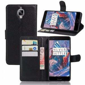 Wallet | Кожаный чехол-кошелек с внутренними карманами для OnePlus 3 / OnePlus 3T