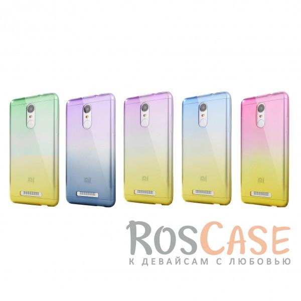 Прозрачный TPU чехол с цветным градиентом для Xiaomi Redmi Note 4<br><br>Тип: Чехол<br>Бренд: Epik<br>Материал: TPU