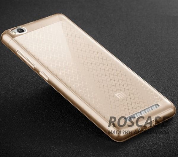 Тонкий прозрачный силиконовый чехол Msvii для Xiaomi Redmi 3 с заглушкой +стекло (Золотой)Описание:производитель  -  Msvii;совместимость  -  смартфон Xiaomi Redmi 3;материал  -  силикон;форм-фактор  -  накладка.Особенности:в комплект входит заглушка;имеет высокий уровень прочности и износостойкости;обладает хорошей гибкостью и эластичностью;не деформируется;имеет все необходимые функциональные вырезы;защитное стекло на экран в комплекте.<br><br>Тип: Чехол<br>Бренд: MSVII<br>Материал: TPU