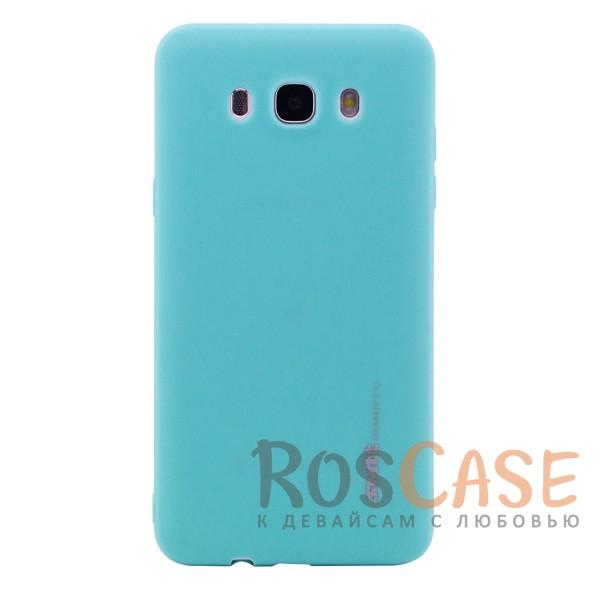Мягкий силиконовый чехол SMTT с покрытием софт-тач для Samsung J710F Galaxy J7 (2016) (Бирюзовый (soft touch))Описание:совместимость - Samsung J710F Galaxy J7 (2016);материал - силикон;тип - накладка;матовая поверхность;защита от царапин, потёртостей, сколов;не скользит в руках и на поверхностях;не заметны отпечатки пальев;все необходимые функциональные вырезы.<br><br>Тип: Чехол<br>Бренд: Epik<br>Материал: Силикон