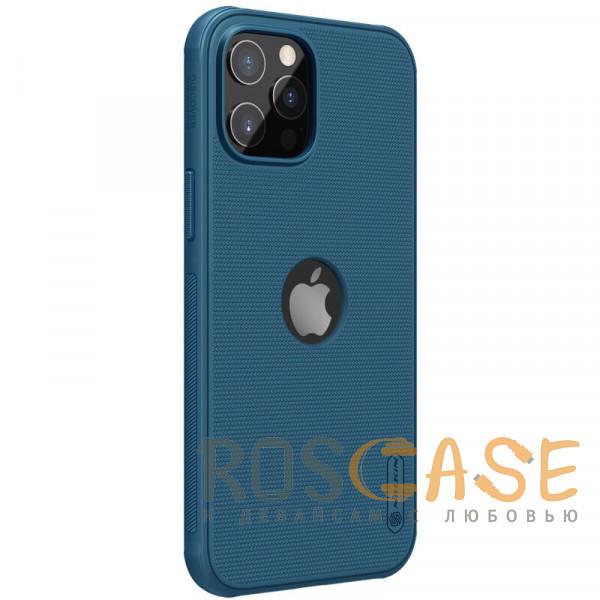 Изображение Синий Nillkin Super Frosted Shield Pro   Матовый пластиковый чехол для iPhone 12 / 12 Pro с отверстием под лого
