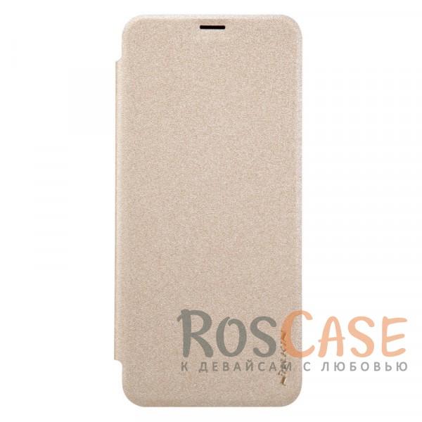 Защитный чехол-книжка для Samsung G955 Galaxy S8 Plus (Золотой)Описание:бренд&amp;nbsp;Nillkin;спроектирован для Samsung G955 Galaxy S8 Plus;материалы: поликарбонат, искусственная кожа;блестящая поверхность;не скользит в руках;предусмотрены все необходимые вырезы;защита со всех сторон;тип: чехол-книжка.<br><br>Тип: Чехол<br>Бренд: Nillkin<br>Материал: Искусственная кожа