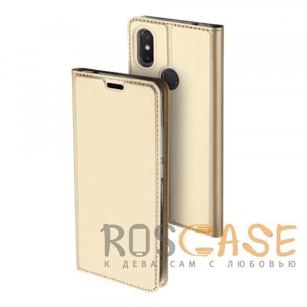 Фото Золотой Dux Ducis   Чехол-книжка для Xiaomi Mi 8 SE с функцией подставки и картхолдером