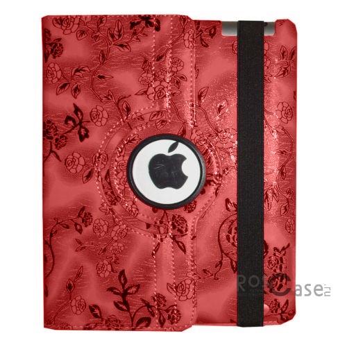 Кожаный чехол-книжка TTX (BLACK Flowers) (360 градусов) для Apple IPAD AIR (Красный)Описание:фирма-изготовитель -  TTX;изготовлен специально для модели Apple IPAD AIR;материал  -  искусственная кожа;форма  -  чехол-книжка.&amp;nbsp;Особенности:возможность вращения на 360 градусов;смягчит удар в случае падения;имеются все необходимые вырезы для планшета Apple Ipad 2/3/4;трансформируется в подставку.<br><br>Тип: Чехол<br>Бренд: TTX<br>Материал: Искусственная кожа