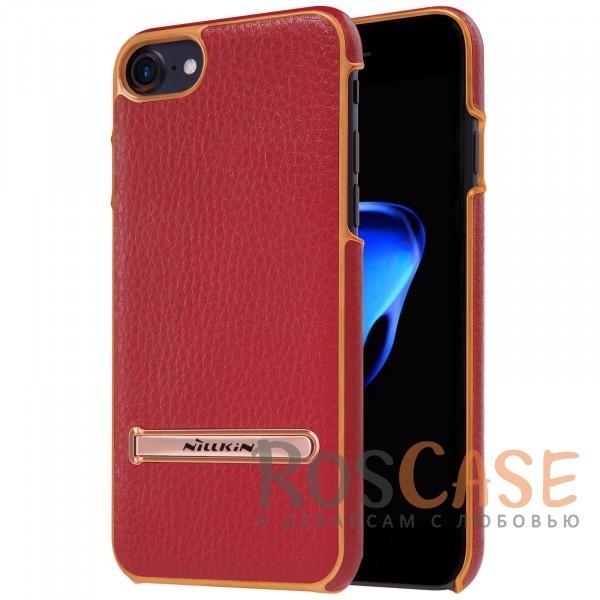 Кожаная накладка с подставкой Nillkin M-Jarl Series для Apple iPhone 7 (4.7) (Красный)Описание:производитель  - &amp;nbsp;Nillkin;разработан для Apple iPhone 7 (4.7);материалы  -  искусственная кожа, металл;тип  -  накладка.&amp;nbsp;Особенности:элегантный дизайн;в наличии функциональные вырезы;не видны отпечатки пальцев;металлическая окантовка;защищает от царапин и падений;функция подставки.<br><br>Тип: Чехол<br>Бренд: Nillkin<br>Материал: Искусственная кожа