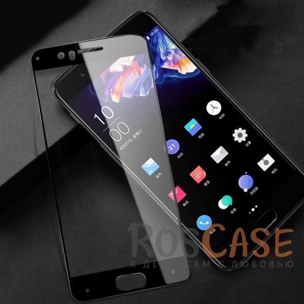 Защитное цветное стекло Mocolo (CP+) на весь экран для OnePlus 5 (Черный)<br><br>Тип: Защитное стекло<br>Бренд: Epik