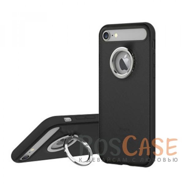 TPU+PC чехол Rock Ring Holder Case M2 Series для Apple iPhone 7 (4.7) (Черный / Black)Описание:произведен компанией&amp;nbsp;Rock;разработан для Apple iPhone 7 (4.7);материалы: термополиуретан и поликарбонат;тип: накладка.<br><br>Тип: Чехол<br>Бренд: ROCK<br>Материал: TPU
