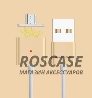 Магнитный кабель WSKEN X-cable Double Metal Series MicroUSB (Золотой / Gold)Описание:совместимость: устройства с разъемом microUSB;материалы: PVC, TPE;производитель: Wsken;тип: дата-кабель.&amp;nbsp;Особенности:разъемы: microUSB, USB;магнитный коннектор;для устройств с разъемом microUSB;высокая скорость передачи данных;ток  -  2,4A;прочный;длина  -  1 метр.<br><br>Тип: USB кабель/адаптер<br>Бренд: Epik