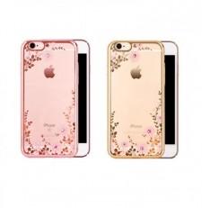 """Прозрачный чехол со стразами для Apple iPhone 8 (4.7"""") с глянцевым бампером"""