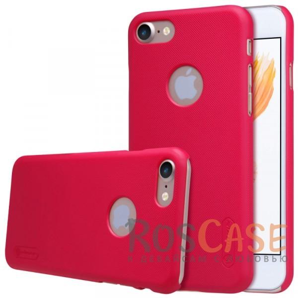 "Фотография Красный Nillkin Super Frosted Shield | Матовый чехол для Apple iPhone 7 (4.7"") (+ пленка)"