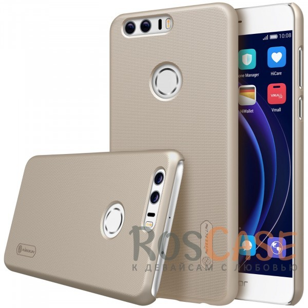 Nillkin Super Frosted Shield | Матовый чехол для Huawei Honor 8 (+ пленка) (Золотой)Описание:бренд&amp;nbsp;Nillkin;спроектирована для Huawei Honor 8;материал - поликарбонат;тип - накладка.Особенности:фактурная поверхность;защита от ударов и царапин;тонкий дизайн;наличие функциональных вырезов;пленка на экран в комплекте.<br><br>Тип: Чехол<br>Бренд: Nillkin<br>Материал: Натуральная кожа