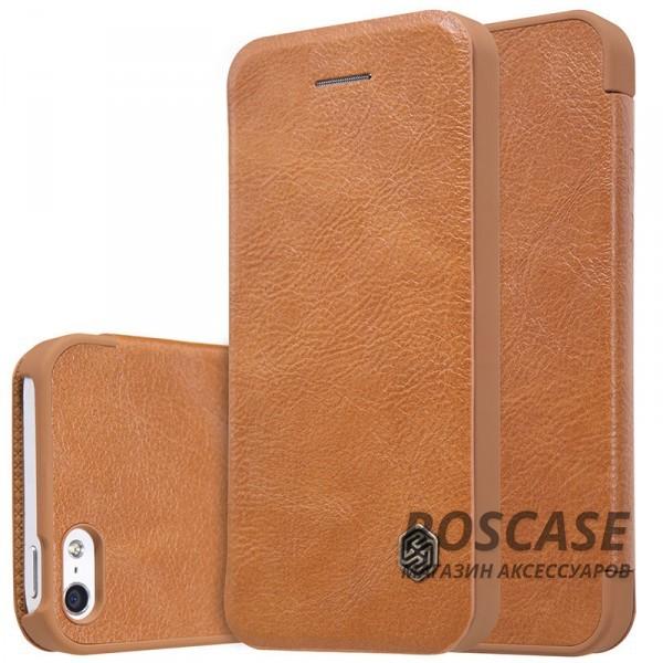 Чехол-книжка из натуральной кожи для Apple iPhone 5/5S/SE (Коричневый)Описание:производитель:&amp;nbsp;Nillkin;разрабонат для Apple iPhone 5/5S/SE;материал: натуральная кожа;тип: чехол-книжка.&amp;nbsp;Особенности:элегантный дизайн;ультратонкий;фактурная поверхность;внутренняя отделка микрофиброй.<br><br>Тип: Чехол<br>Бренд: Nillkin<br>Материал: Натуральная кожа