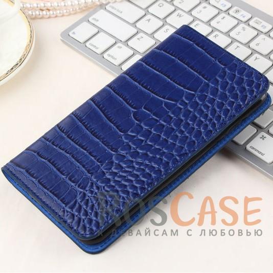 Кожаный чехол-книжка с имитацией кожи крокодила для Meizu M3 Note (Синий)<br><br>Тип: Чехол<br>Бренд: Epik<br>Материал: Искусственная кожа