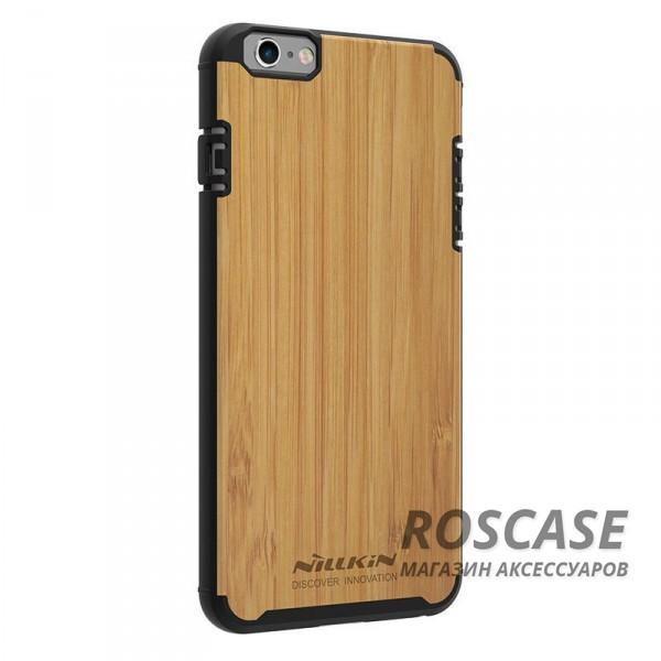 Деревянная накладка Nillkin Knights Series для Apple iPhone 6/6s (4.7) (Черный)Описание:от бренда&amp;nbsp;Nillkin;разработана для Apple iPhone 6/6s (4.7);материалы  -  поликарбонат, бамбук;формат  -  накладка.&amp;nbsp;Особенности:покрытие из натурального бамбука;защита от механических повреждений;в наличии функциональные вырезы;встроенная металлическая пластина для использования автодержателя;неповторимая фактура дерева (у каждой накладки разная).<br><br>Тип: Чехол<br>Бренд: Nillkin<br>Материал: Поликарбонат