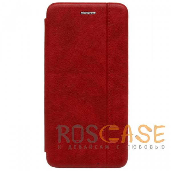 Фото Красный Open Color 2 | Чехол-книжка на магните для Xiaomi Mi A3 (CC9e) с подставкой и карманом