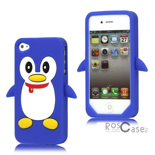 """фото силиконовый чехол """"Пингвинчик"""" для Apple iPhone 4/4S"""