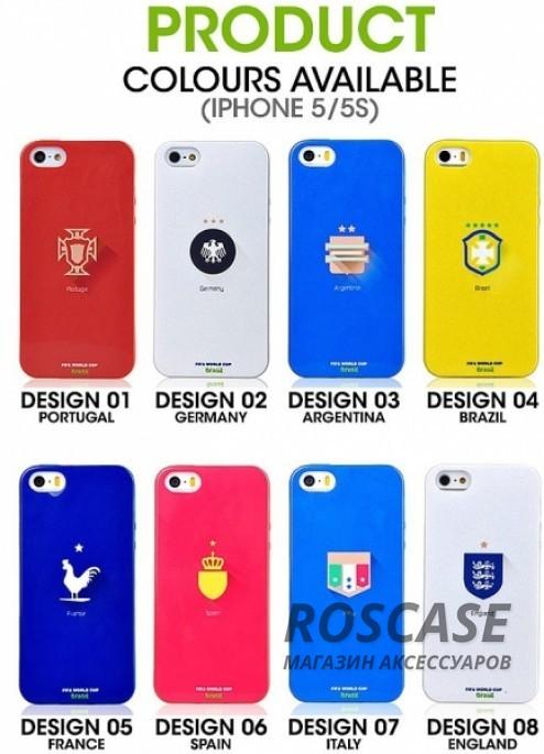 "фото TPU чехол Remax World Cup ""Brazil"" для Apple iPhone 5/5S/5SE"