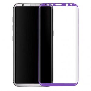 Защитное стекло 3D с цветной рамкой на весь экран для Samsung G955 Galaxy S8 Plus