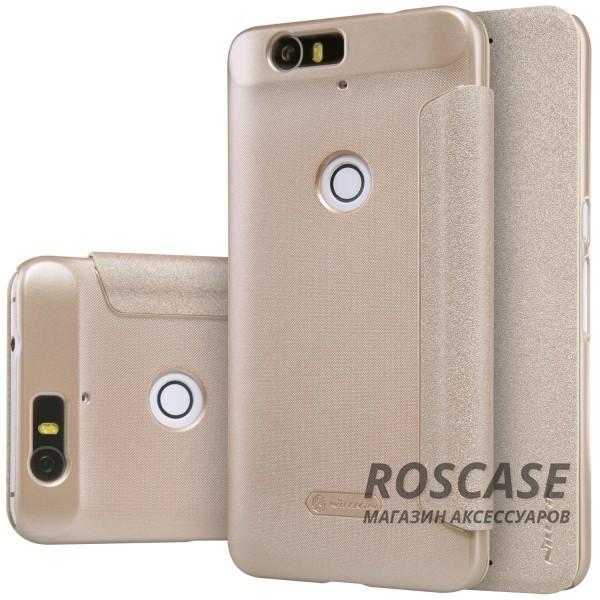 Кожаный чехол (книжка) Nillkin Sparkle Series для Huawei Nexus 6P (Золотой)Описание:бренд&amp;nbsp;Nillkin;изготовлен специально для Huawei Nexus 6P;материал: искусственная кожа, поликарбонат;тип: чехол-книжка.Особенности:не скользит в руках;защита от механических повреждений;не выгорает;блестящая поверхность;надежная фиксация.<br><br>Тип: Чехол<br>Бренд: Nillkin<br>Материал: Искусственная кожа