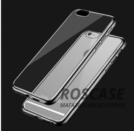 Прозрачный силиконовый чехол для Apple iPhone 6/6s (4.7) с глянцевой окантовкой (Серый)Описание:подходит для Apple iPhone 6/6s (4.7);материал - силикон;тип - накладка.Особенности:глянцевая окантовка;прозрачный центр;гибкий;все вырезы в наличии;не скользит в руках;ультратонкий.<br><br>Тип: Чехол<br>Бренд: Epik<br>Материал: Силикон