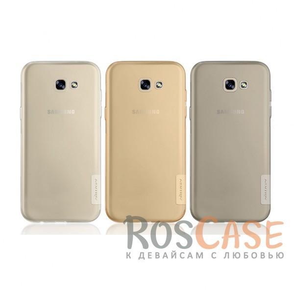 Мягкий прозрачный силиконовый чехол для Samsung A720 Galaxy A7 (2017)Описание:произведено фирмой&amp;nbsp;Nillkin;разработан с учетом особенностей Samsung A720 Galaxy A7 (2017);материал: термополиуретан;тип: накладка.<br><br>Тип: Чехол<br>Бренд: Nillkin<br>Материал: TPU