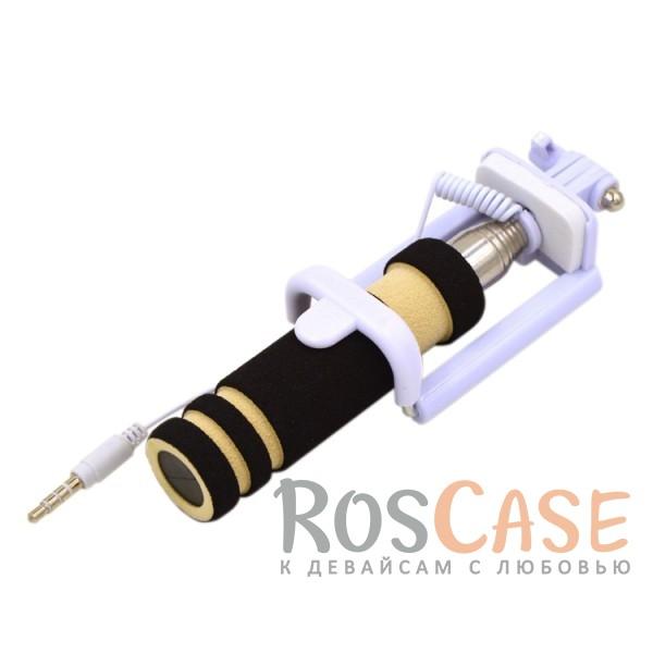 Фото Черный Телескопический Mini монопод для селфи (кабель 3,5) (13.8см - 48см)