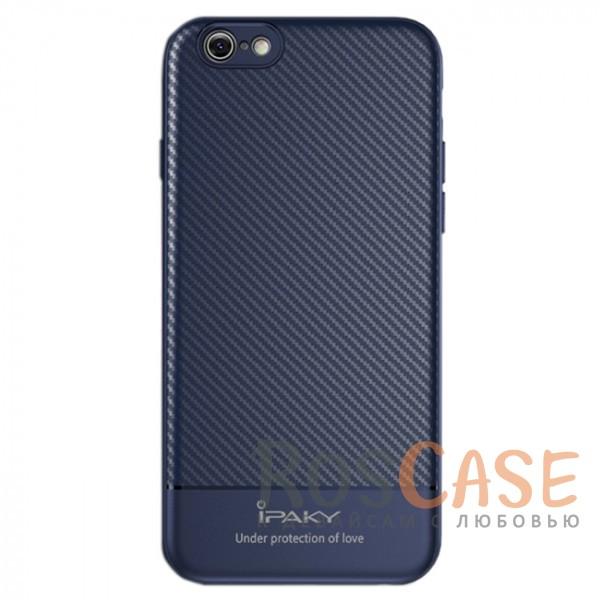Ультратонкий чехол-накладка с карбоновым покрытием и защитными бортиками для Apple iPhone 7 / 8 (4.7) (Синий)Описание:совместимость - Apple iPhone 7 / 8 (4.7);тип - накладка;материалы - TPU, карбоновое покрытие;не заметны отпечатки пальцев;защита от царапин, сколов, трещин;ультратонкий дизайн;завышенные бортики вокруг камеры;защита клавиш;все необходимые функциональные вырезы.<br><br>Тип: Чехол<br>Бренд: iPaky<br>Материал: Пластик