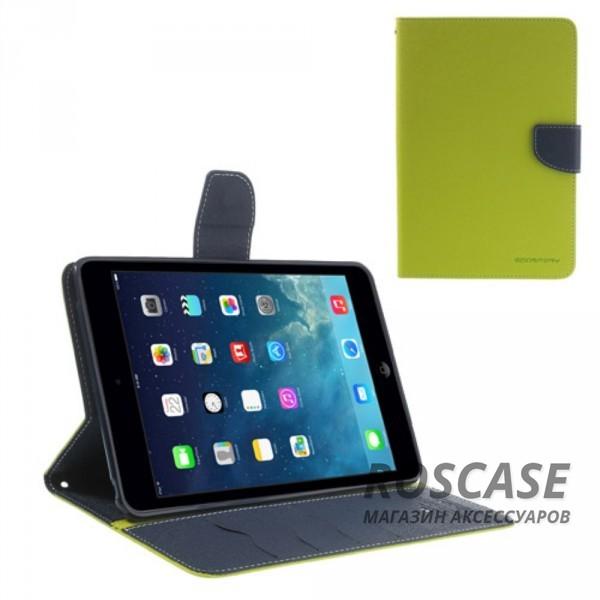 Чехол (книжка) Mercury Fancy Diary series для iPad Mini / iPad Mini Retina/ iPad mini 3 (Зеленый / Синий)Описание:производитель  -  бренд&amp;nbsp;Mercury;совместим с iPad Mini / iPad Mini Retina/ ipad mini 3;материалы  -  искусственная кожа, термополиуретан;форма  -  чехол-книжка.&amp;nbsp;Особенности:рельефная поверхность;все функциональные вырезы в наличии;внутренние кармашки;магнитная застежка;защита от механических повреждений;трансформируется в подставку.<br><br>Тип: Чехол<br>Бренд: Mercury<br>Материал: Искусственная кожа