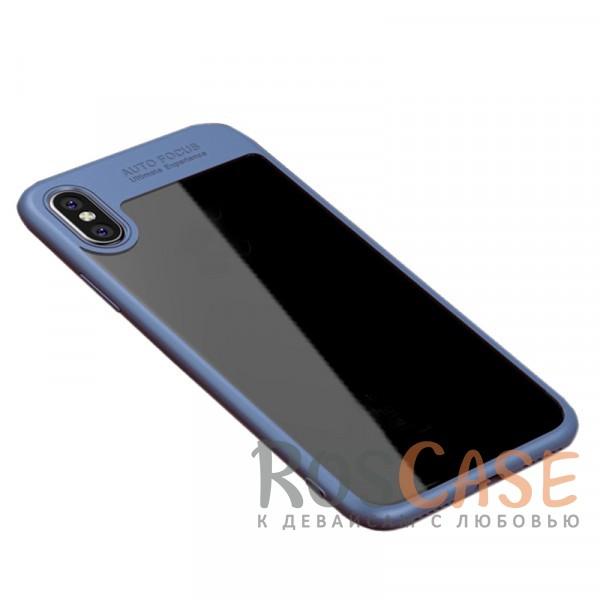 Ультратонкий чехол iPaky (original) Hard Original с глянцевой прозрачной вставкой и защитными бортиками вокруг камеры для Apple iPhone X (5.8) (Синий)Особенности:совместимость -&amp;nbsp;Apple iPhone X (5.8);бренд -&amp;nbsp;iPaky;материалы - поликарбонат, термополиуретан;тип - накладка;прозрачная вставка из поликарбоната;легко устанавливается;дополнительная защита камеры;дублирующие кнопки для защиты клавиш;ультратонкий дизайн;предусмотрены все функциональные вырезы.&amp;nbsp;<br><br>Тип: Чехол<br>Бренд: iPaky<br>Материал: Поликарбонат