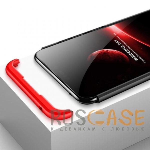 Изображение Черный / Красный GKK LikGus 360° | Двухсторонний чехол для Huawei Honor 8C с защитными вставками