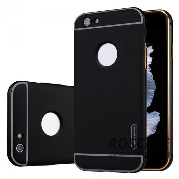 Металлическая накладка + Автодержатель Nillkin для Apple iPhone 6/6s (4.7) (Черный)Описание:производитель  - &amp;nbsp;Nillkin;совместим с Apple iPhone 6/6s (4.7);материал  -  металл;тип  -  накладка.&amp;nbsp;Особенности:прочная;в комплекте автомобильный держатель;олеофобное покрытие;окошко для логотипа;защищает от механических повреждений;функция подставки.<br><br>Тип: Чехол<br>Бренд: Nillkin<br>Материал: Металл