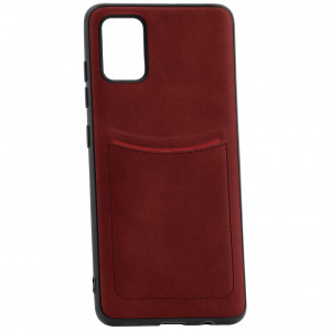 ILEVEL | Чехол с кожаным покрытием и карманом  для Samsung Galaxy A91