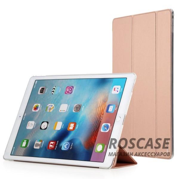 Чехол (книжка) Rock Touch series для Apple iPad Pro 12,9 (Золотой / Rose Gold)Описание: компания разработчик: Rock;совместимость с устройством модели: Apple iPad Pro 12,9;материал изготовления: синтетическая кожа, искусственная кожа;конфигурация: чехол в виде книжки.Особенности:максимально высокая прочность и износоустойчивость;классический дизайн, сочетающий модные тренды;функция Sleep mode;длительный срок службы.<br><br>Тип: Чехол<br>Бренд: ROCK<br>Материал: Искусственная кожа