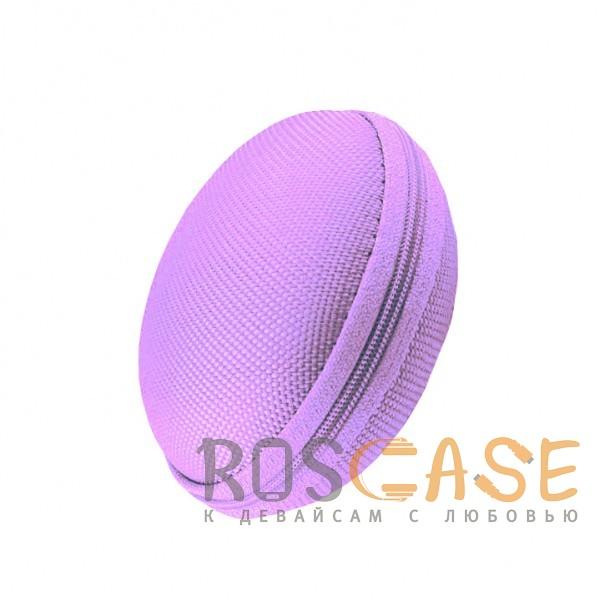 Фото Фиолетовый Текстурный ударопрочный чехол-футляр для наушников