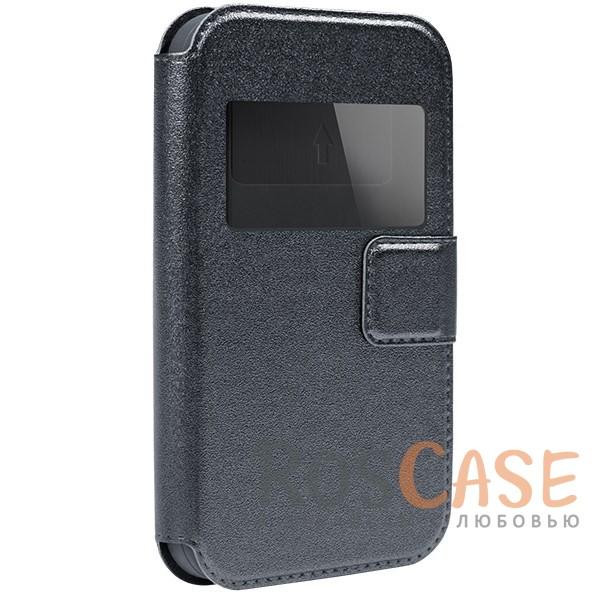 Универсальный чехол-книжка с окошком и магнитом Gresso Норман для смартфона 4.2-4.5 дюйма (Серый)Описание:бренд -&amp;nbsp;Gresso;совместимость -&amp;nbsp;смартфоны с диагональю 4,2-4,5&amp;nbsp;дюйма;материал - искусственная кожа;тип - чехол-книжка;защищает гаджет со всех сторон;магнитная застежка;окошко в обложке;предусмотрены все функциональные вырезы;ВНИМАНИЕ: убедитесь, что ваша модель устройства находится в пределах максимального размера чехла. Размеры чехла: 13*6,5 см.<br><br>Тип: Чехол<br>Бренд: Gresso<br>Материал: Искусственная кожа