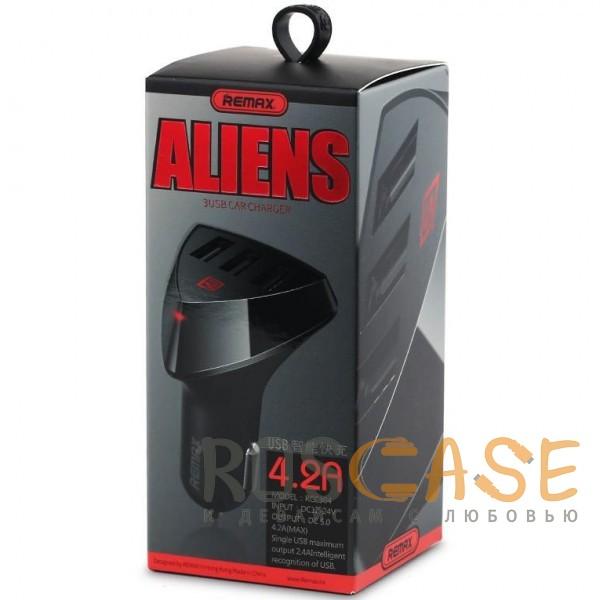 Изображение Черный REMAX RCC304 Aliens | Автомобильное зарядное устройство на 3 USB (4.2A)