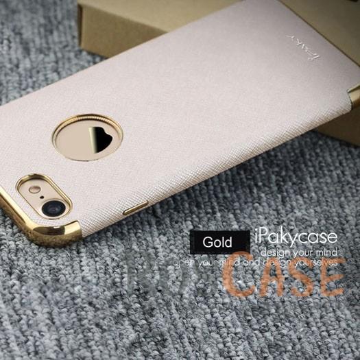 Кожаная накладка iPaky Chrome Series для Apple iPhone 7 (4.7) (Золотой)Описание:производитель: iPaky;создана для&amp;nbsp;Apple iPhone 7 (4.7);материал изделия: искусственная кожа, хромированный пластик;конфигурация: накладка.Особенности:двухцветный дизайн;рельефная фактура;встроенная металлическая пластина;наличие всех функциональных вырезов;защита от царапин и ударов.<br><br>Тип: Чехол<br>Бренд: Epik<br>Материал: Искусственная кожа