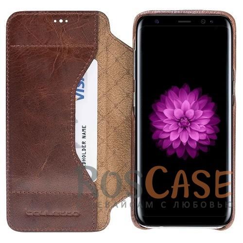 Изображение Элегантный чехол-книжка из натуральной с отделением под пластиковые карты для Samsung Galaxy S8 Plus (G955)