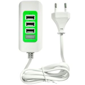 """USB-концентратор на 3 разъема с сетевым входом (3 USB 1A/2.1A) (1m) для Apple iPhone 7 Plus (5.5"""")"""